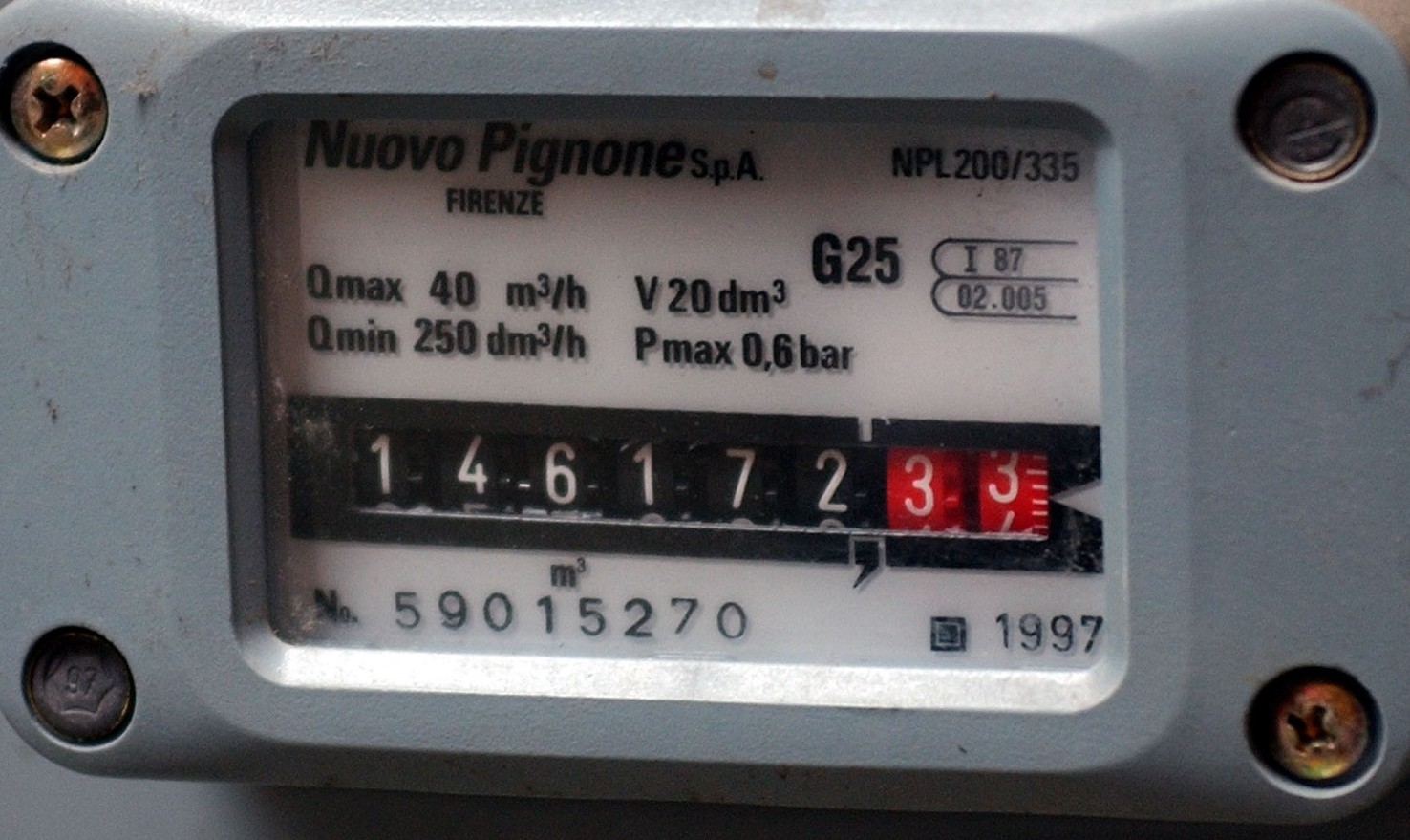 Come leggere il contatore del gas?
