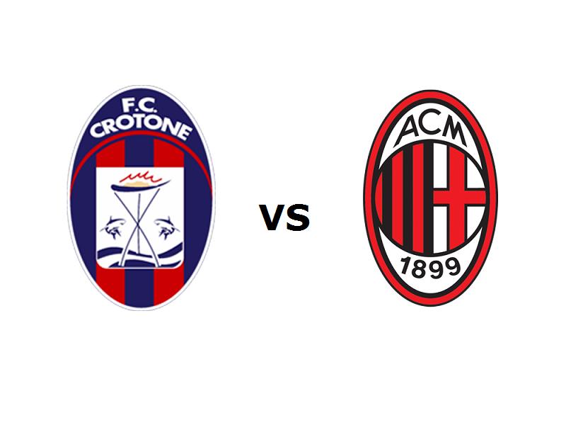 Crotone Milan streaming