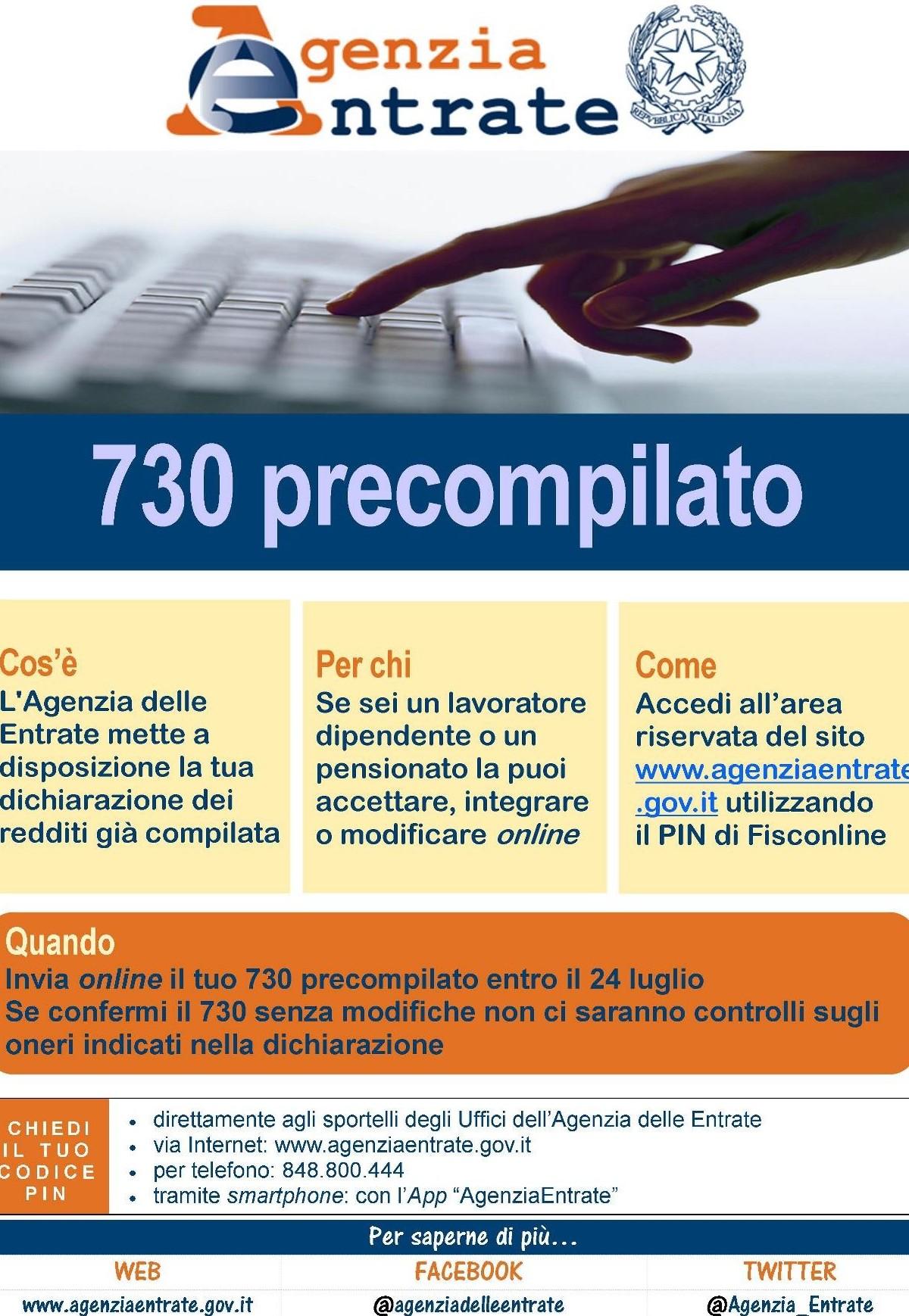 730 precompilato: come accedere