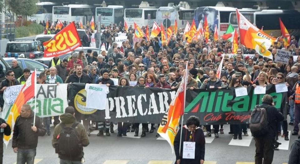 Apa contro i licenziamenti in sciopero e