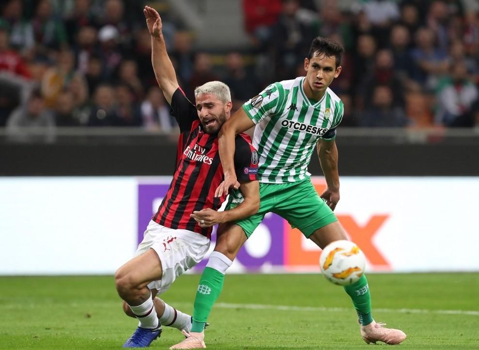 Betis Milan streaming ora gratis live. C