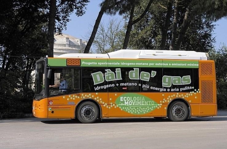 Bus ecologico metano-idrogeno esperiment