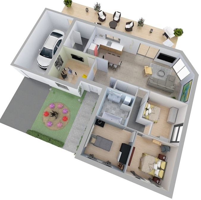 Case in 3D: un intero quartiere costruit