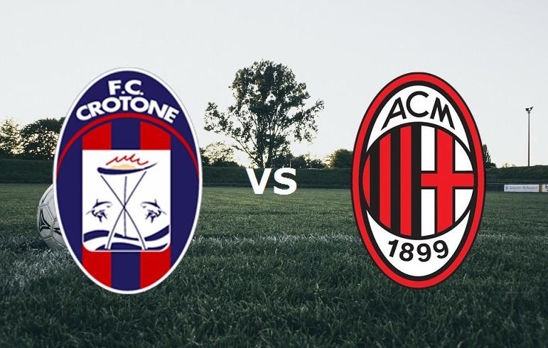 Crotone Milan streaming diretta gratis l