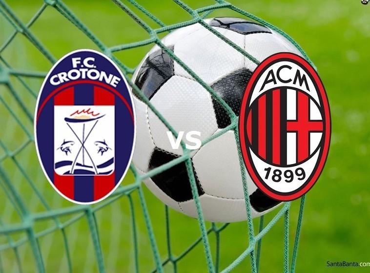 Crotone Milan streaming live gratis dire