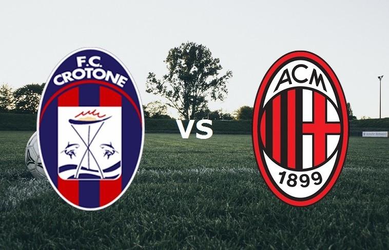 Crotone Milan streaming live gratis link
