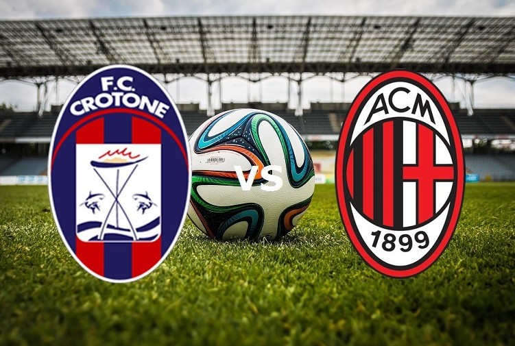 Crotone Milan streaming live gratis. Ved