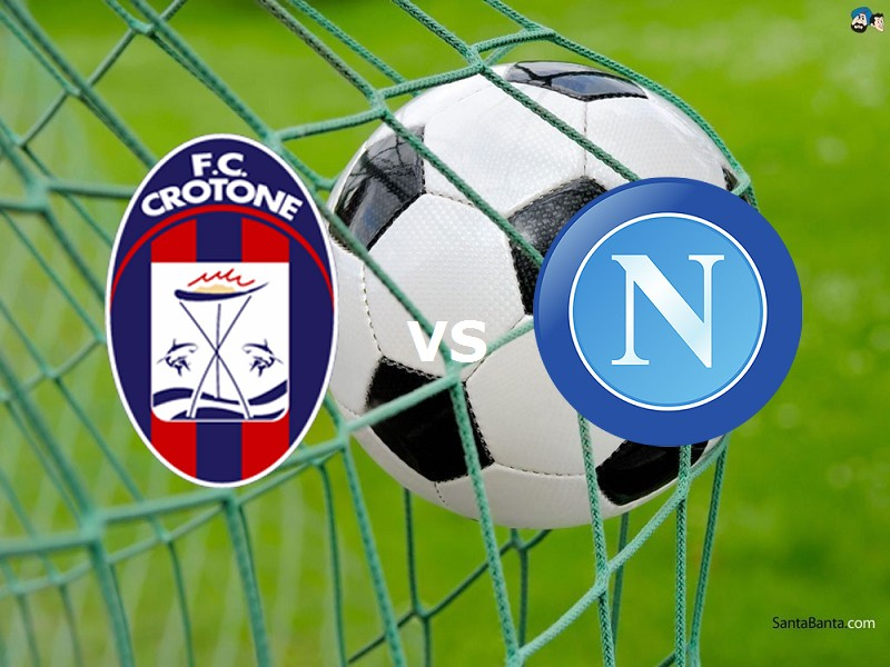 Crotone Napoli streaming live gratis, li