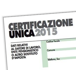Certificazione Unica 2015 e dichiarazion