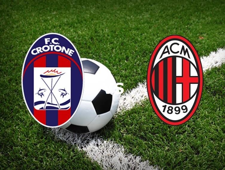 Diretta live Crotone Milan streaming ora