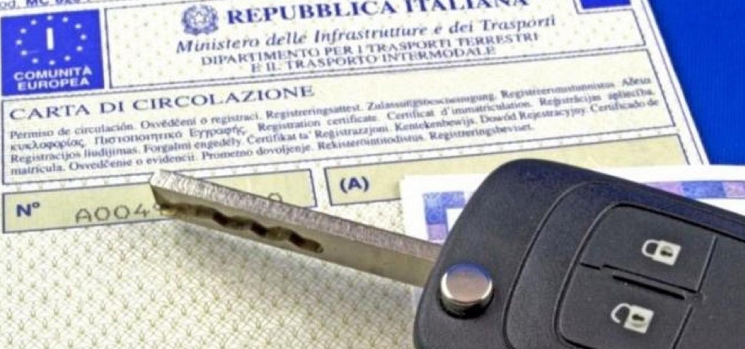 Documento unico di circolazione auto è u