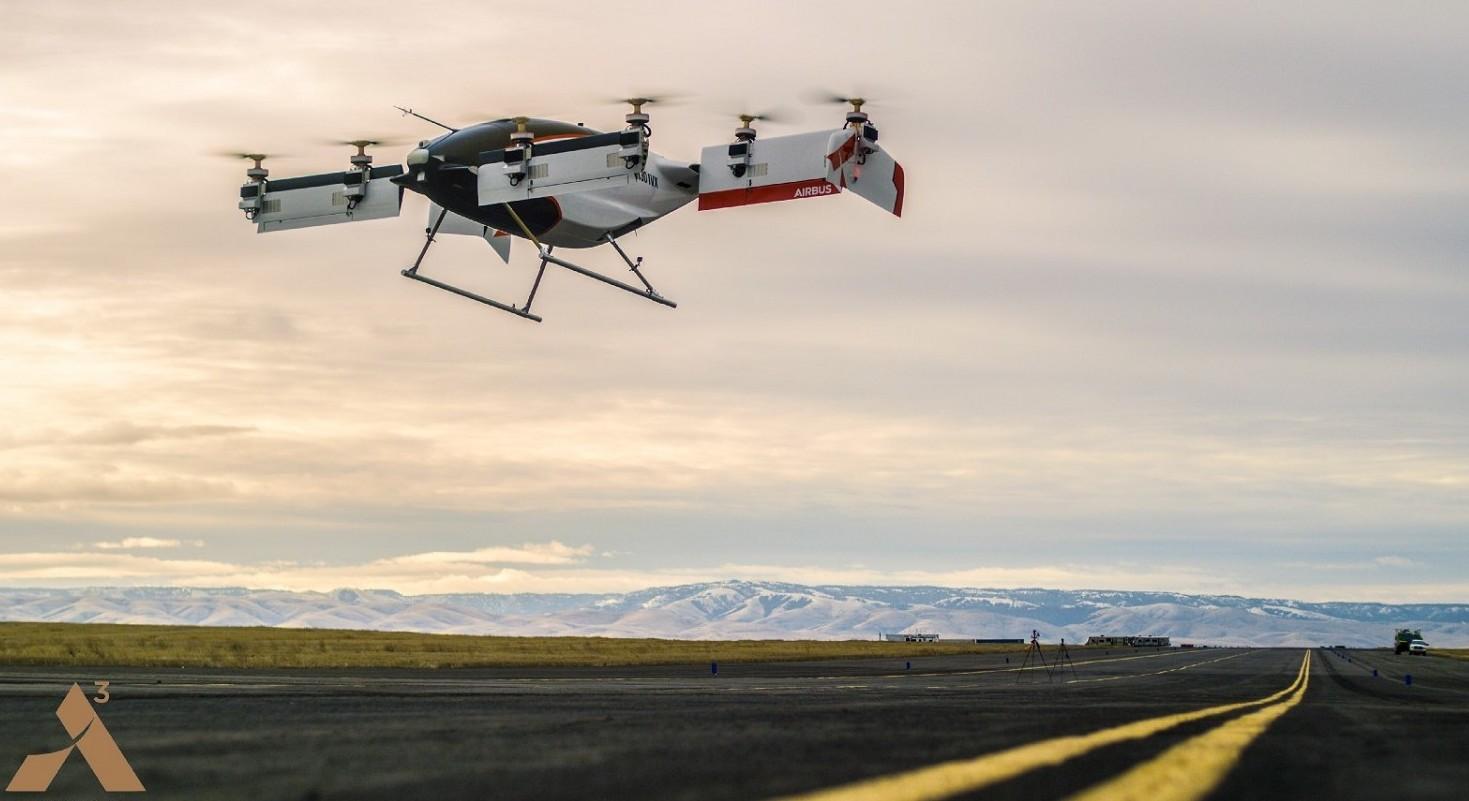 Drone-taxi test riuscito di Airbus. Rivo