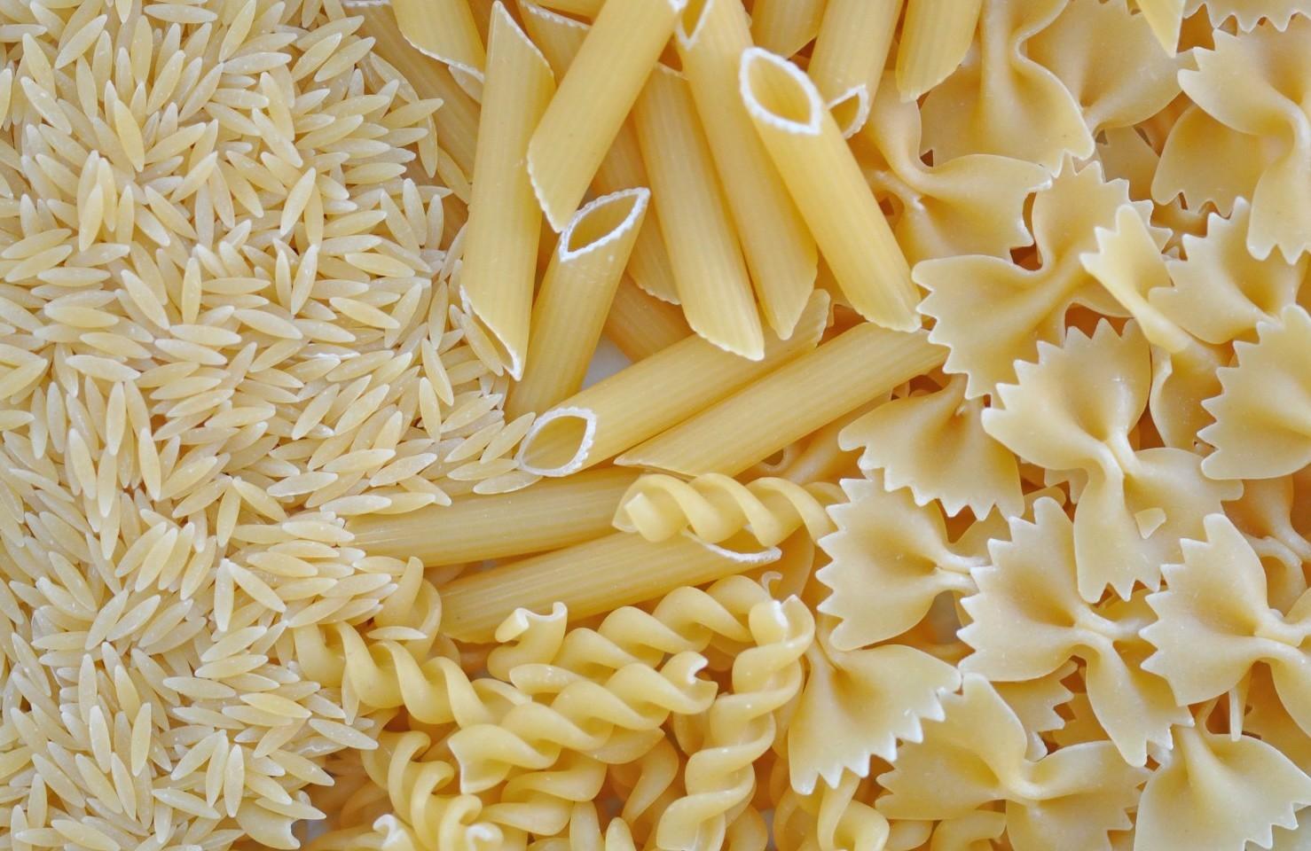 Etichette grano, pasta, riso con origine