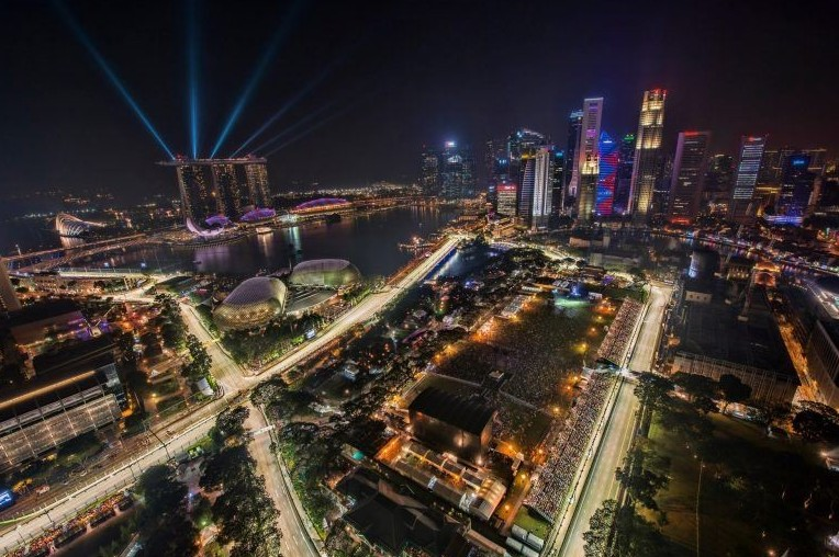 Formula 1 Singapore gara streaming live