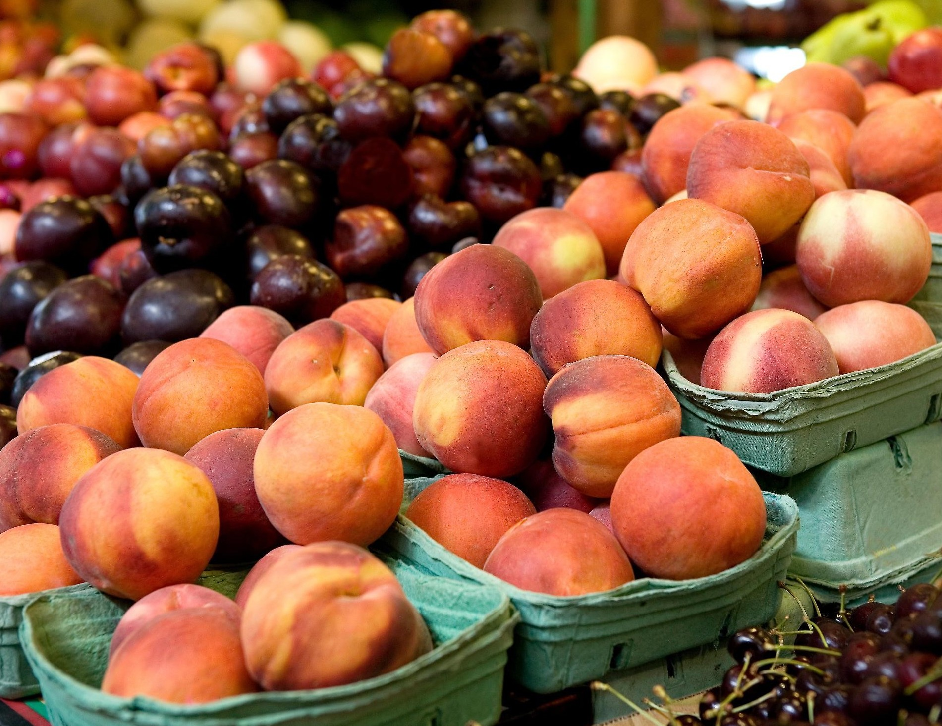 Frutta regalata da Coldiretti per protes