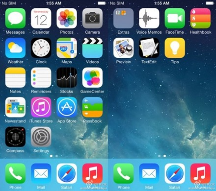 iOS 8 e 8.0.2 iPhone 5, iPhone 4S, iPhon