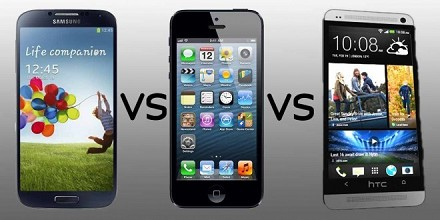 iPhone 6 vs Samsung Galaxy S5 vs Htc M8: