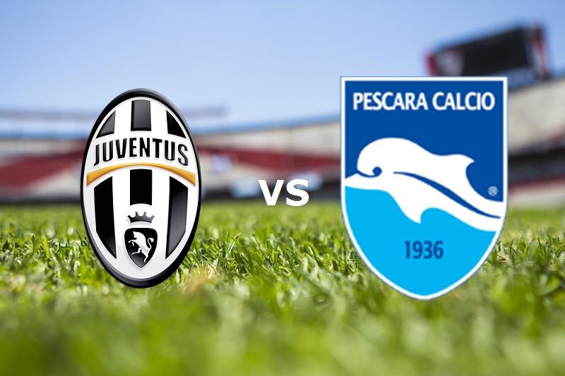 Juventus Pescara streaming live gratis.