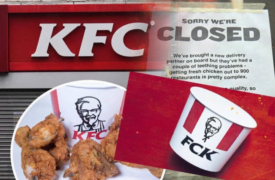 KFC, locali chiusi e la motivazione è ta