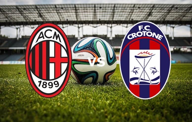 Milan Crotone streaming live gratis dire