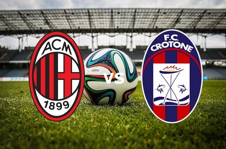 Milan Crotone streaming live gratis. Ved