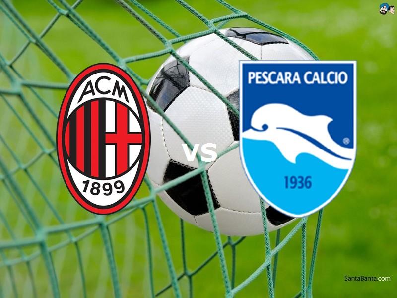 Milan Pescara streaming live gratis link