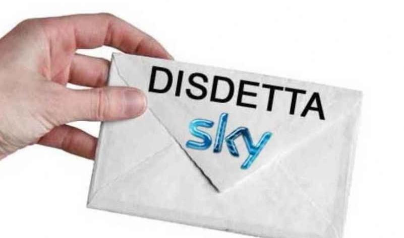 Modulo disdetta Sky 2019 aggiornato, cos