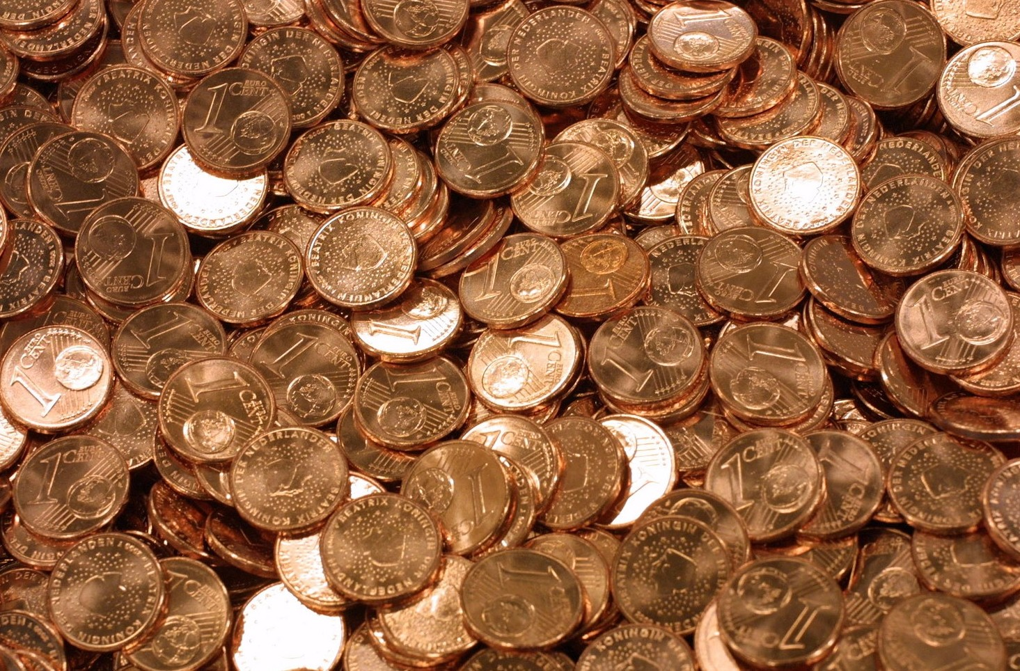 Monete da 1-2 centesimi mancano. Aumento