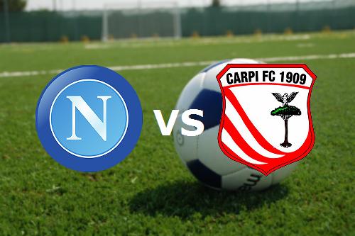 Napoli Carpi streaming gratis live diret