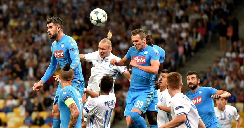 Napoli Dinamo Kiev streaming. Dove veder