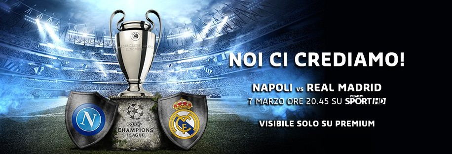 Napoli Real Madrid streaming e su siti s