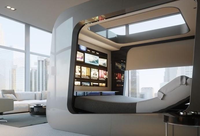 Il letto del futuro innovativo fatto in