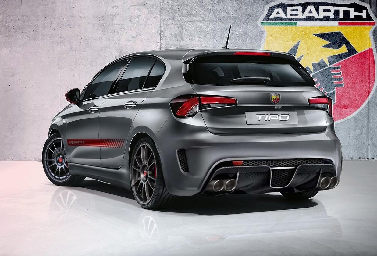 Nuova Fiat Tipo 2019 Abarth accanto a nu