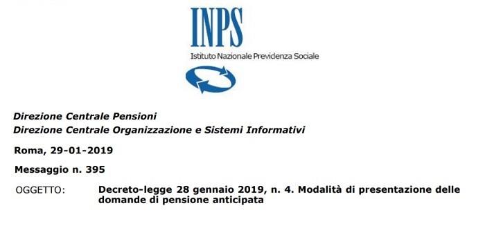Pensioni novità spiegazioni INPS ulterio