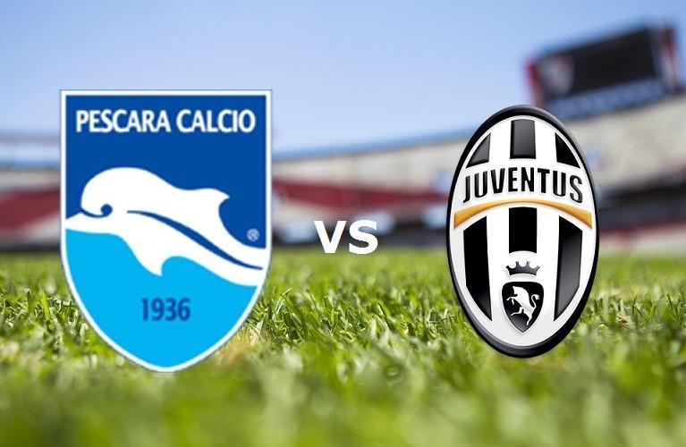 Pescara Juventus streaming live gratis s