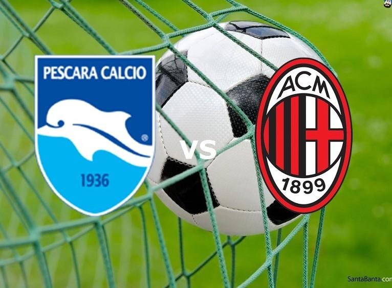 Pescara Milan streaming gratis live. Ved