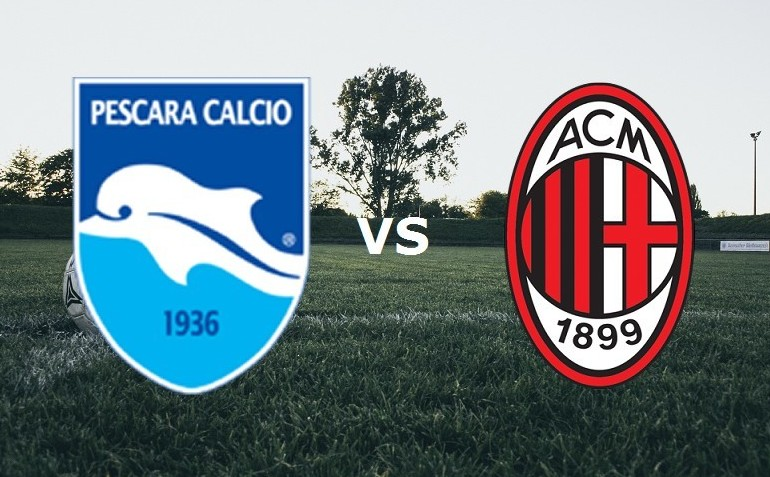 Pescara Milan streaming live gratis per
