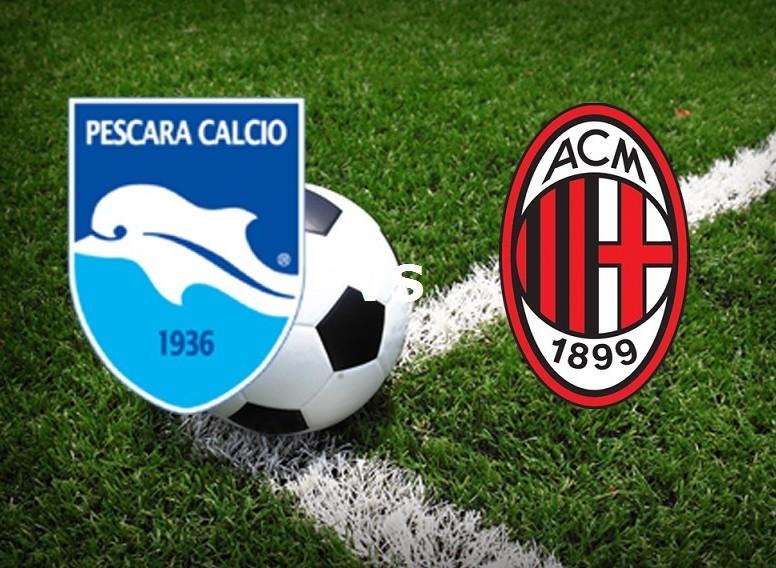 Pescara Milan streaming gratis live su l
