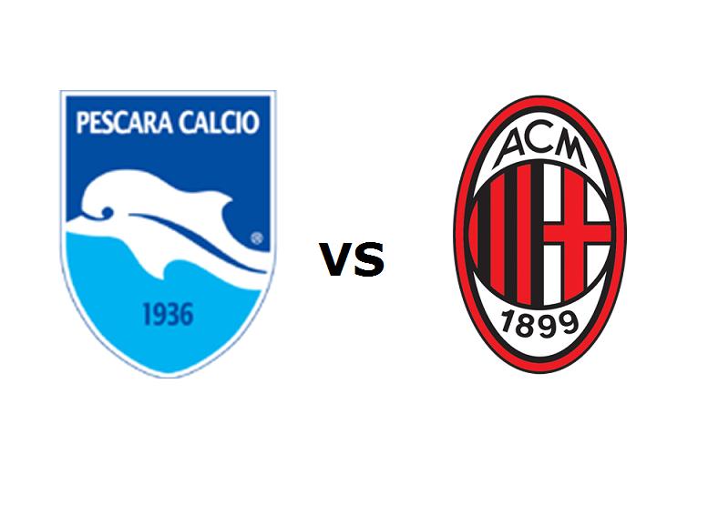 Pescara Milan streaming live gratis su R