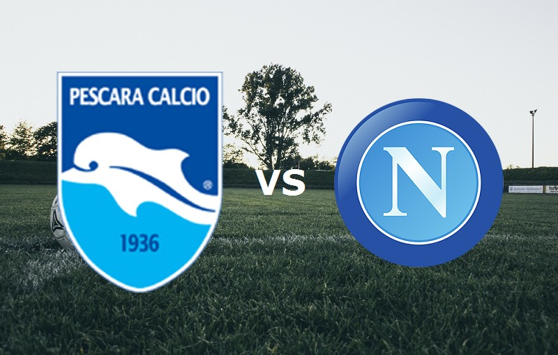 Pescara Napoli streaming live gratis su