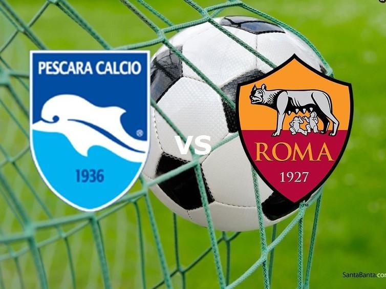 Pescara Roma streaming live gratis diret
