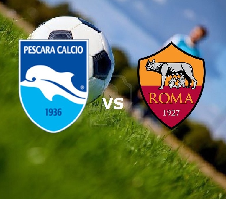 Pescara Roma streaming live gratis diret