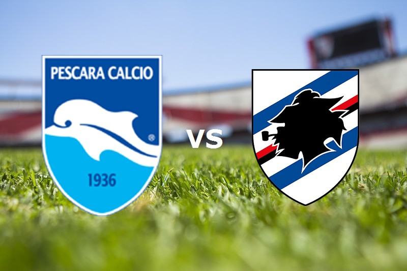 Pescara Sampdoria streaming live gratis