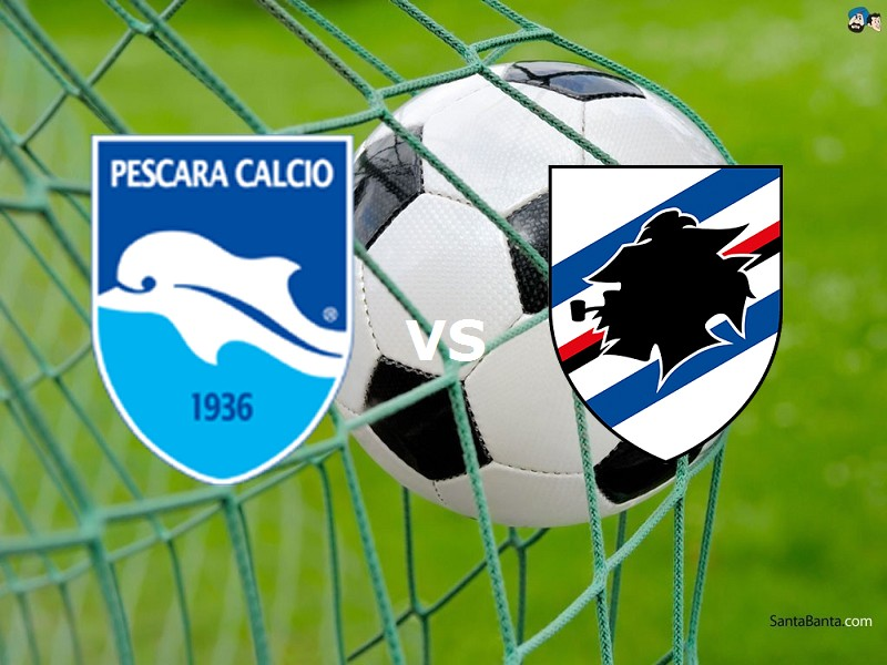 Pescara Sampdoria streaming gratis live