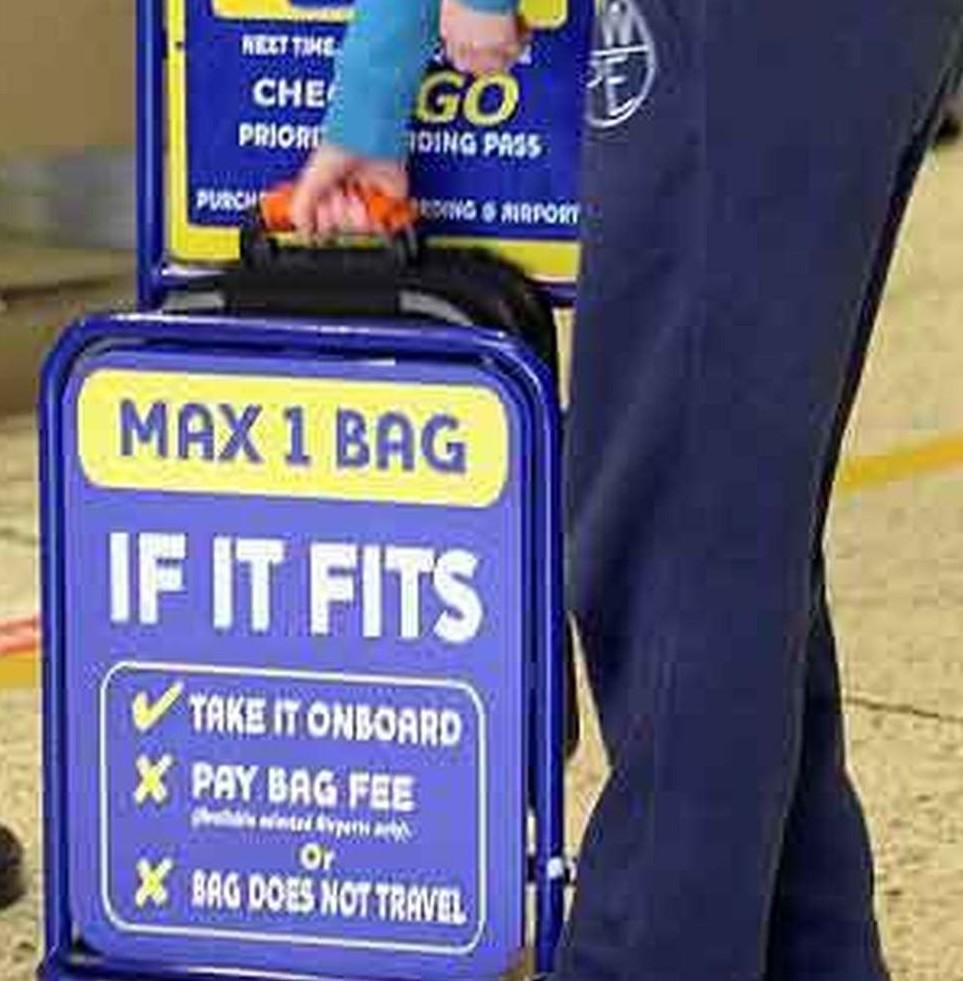 Regole dimensioni bagaglio Ryanair Maggi