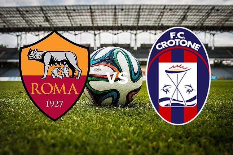 Roma Crotone streaming live gratis diret