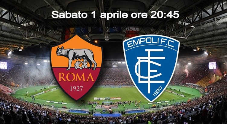 Roma Empoli streaming live gratis dirett