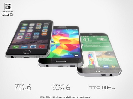 Samsung Galaxy S6, iPhone 6, Htc One, Ne