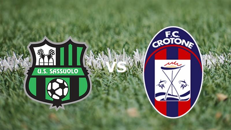 Sassuolo Crotone streaming live gratis l