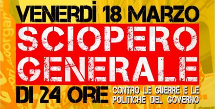 Sciopero Torino, Milano, Genova,Roma met